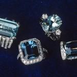 Anelli con acquamarina e diamanti