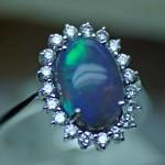 An opale blu